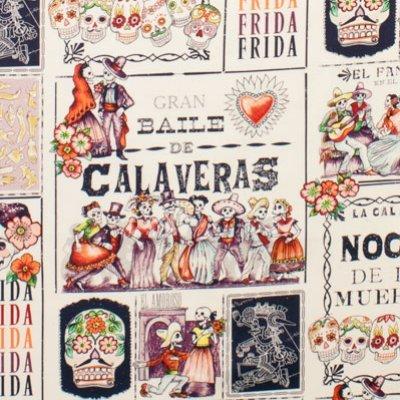 Baile De Calaveras in eggplant