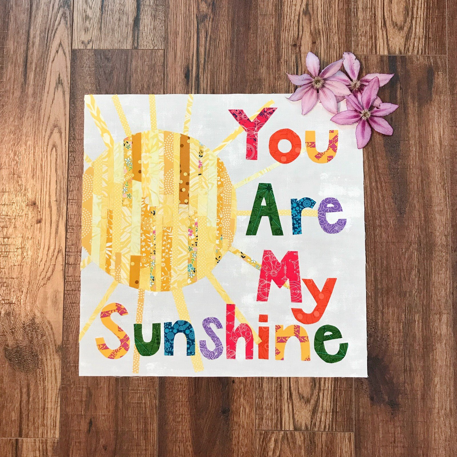 Row by Row 2018 - You Are My Sunshine Pattern