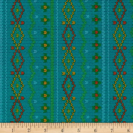 Rusty and Friends Woodland Sweater in Teal