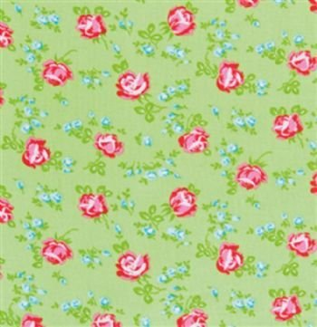 Sugar Hill Scattered Roses in Green