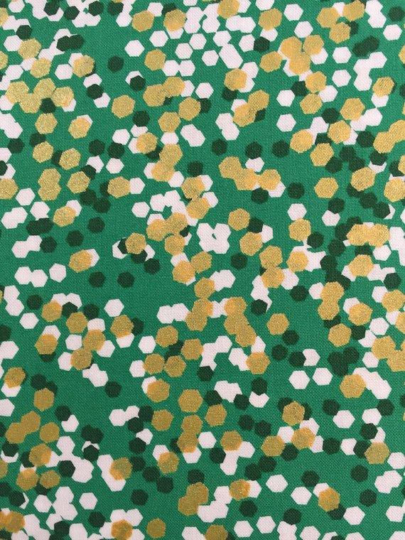 Brambleberry Ridge - Shimmer Reflection in Green by Michael Miller