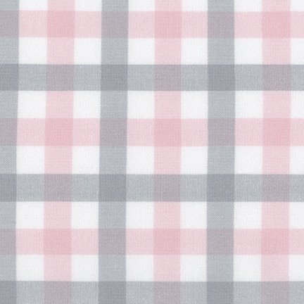 Brooklyn Plaid Flannel in Pink and Grey