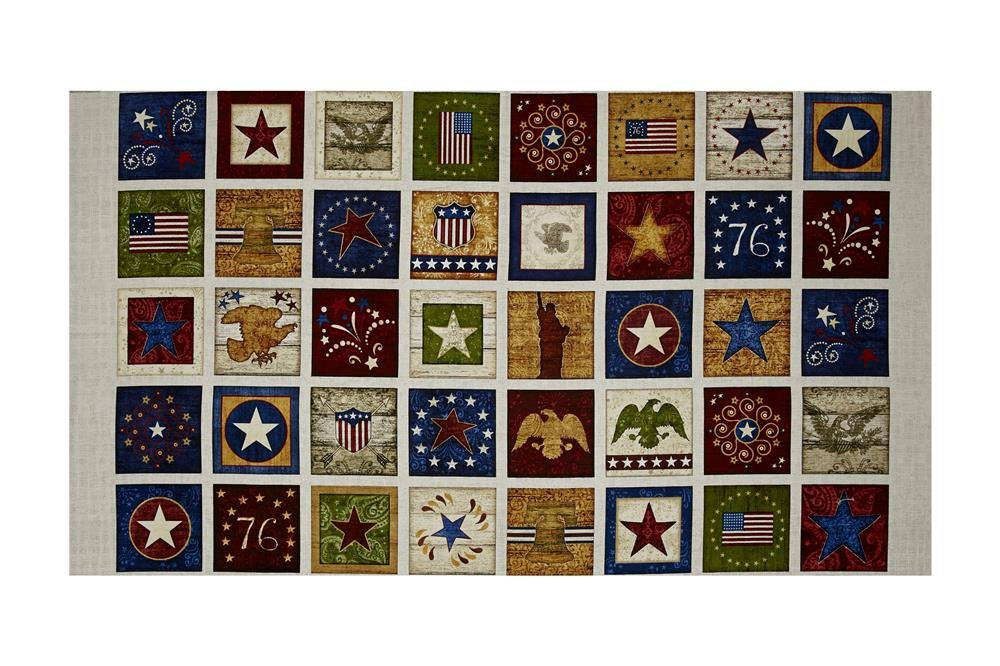 Stars & Stripes Forever -Patriotic Patches Panel by Quilting Treasures