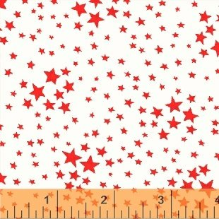 Storybook Americana Red Stars on White by Whistler Studios/Wiindham