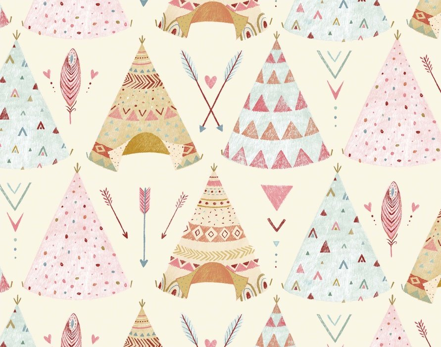 Dream Catchers Teepees in Cream