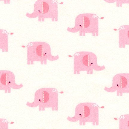 Welcome Baby - Pink Elephants Flannel