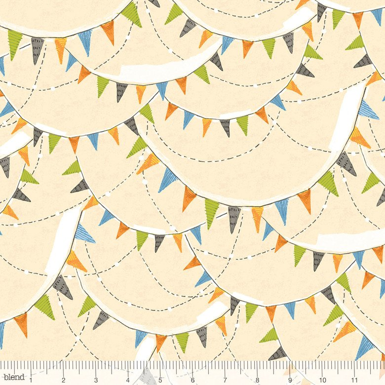 Spooky Town Bunting Ivory