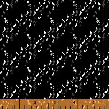 Black  Musical Notes