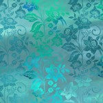 Teal Mist Enchanted Vines