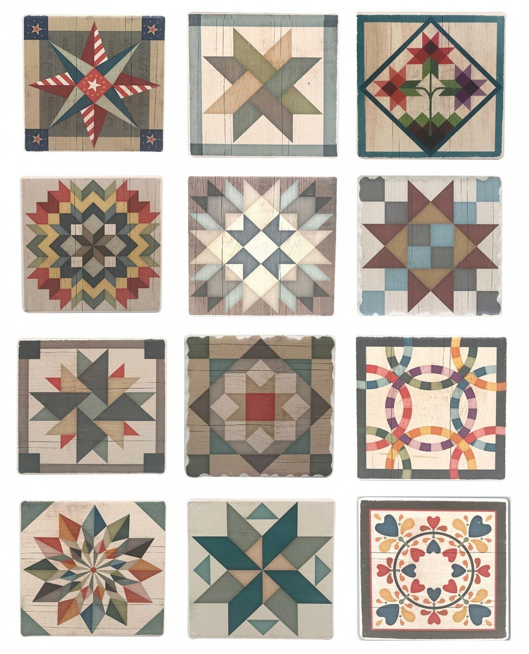 Barn Quilt Coasters