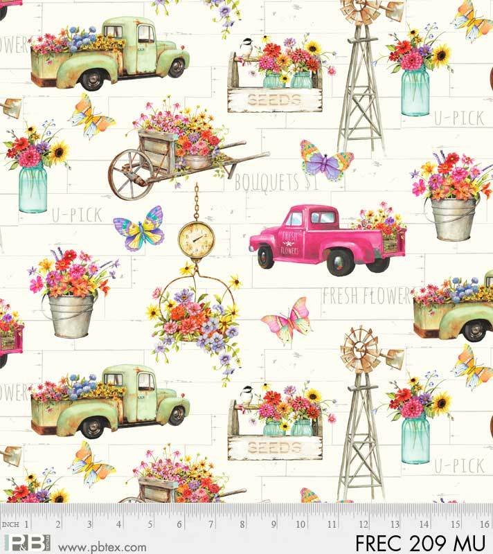 Fresh Country Flowers and Truck