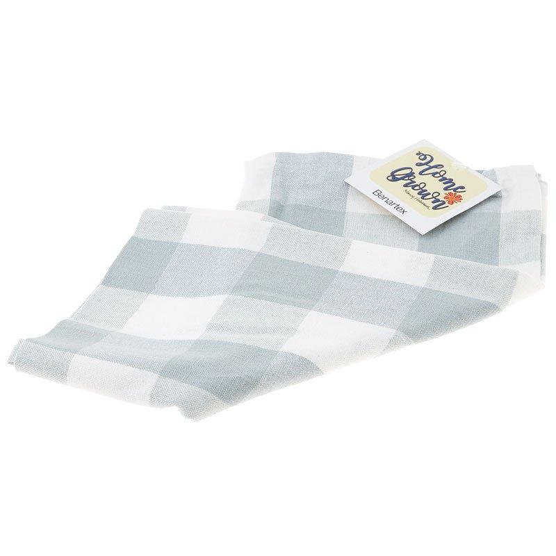 Home Grown Tea Towel Grey Check