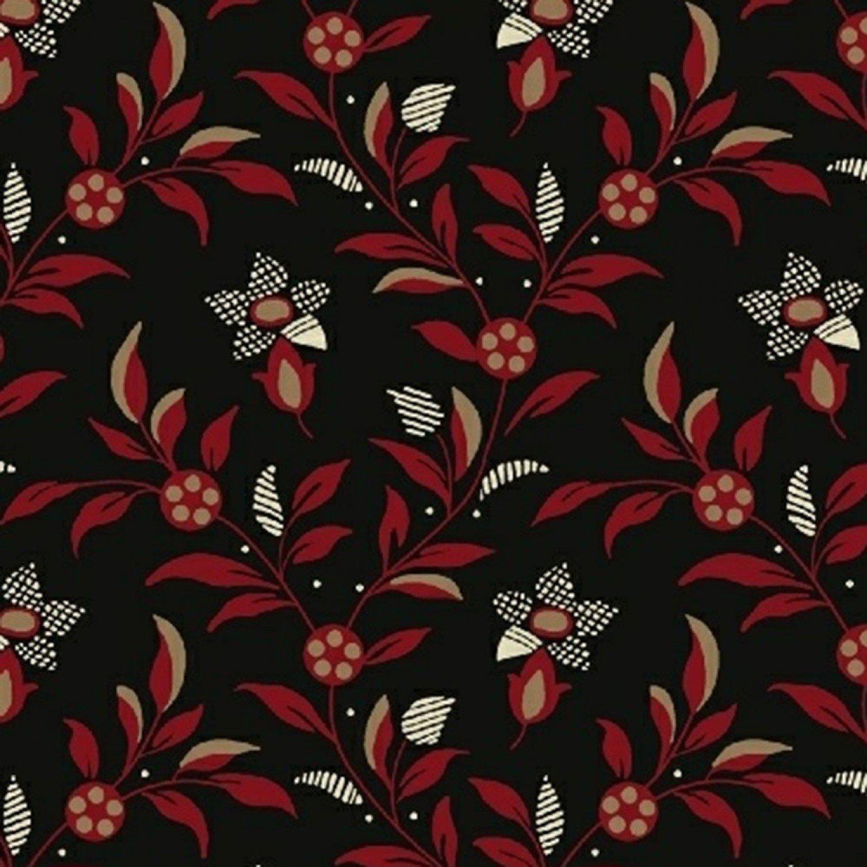 Black Floral Vine (#7015)