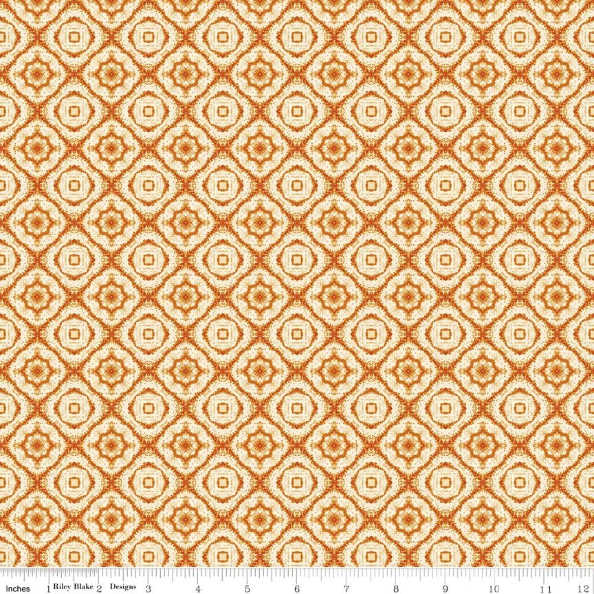 Autumn Hues - Orange Medallion (#7078)