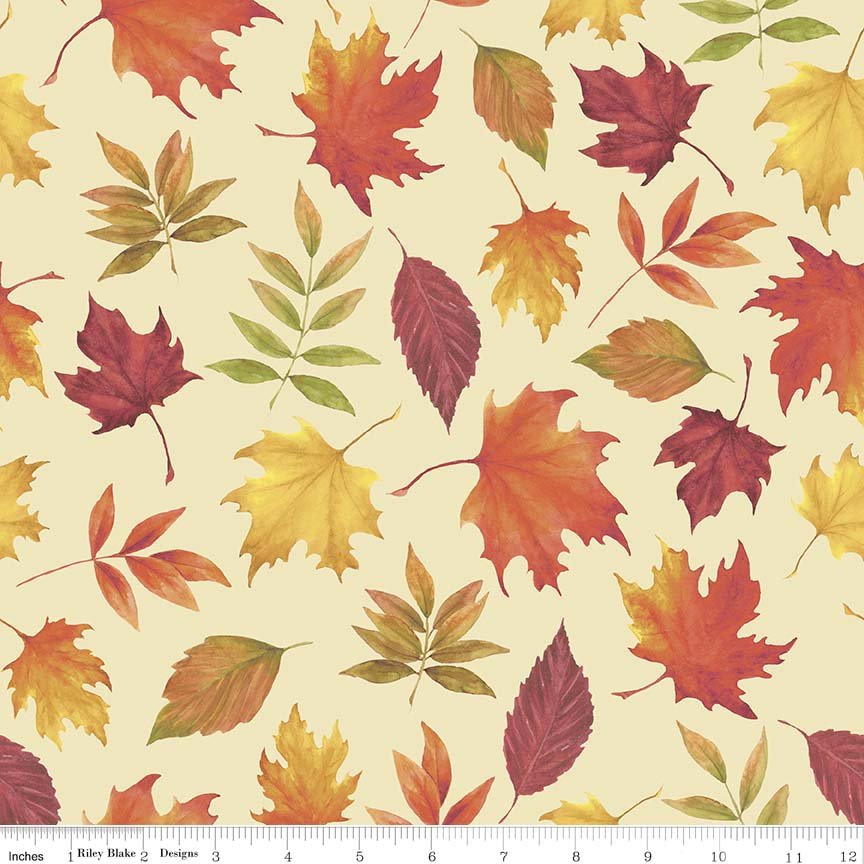 Autumn Hues - Cream Leaves (#7082)