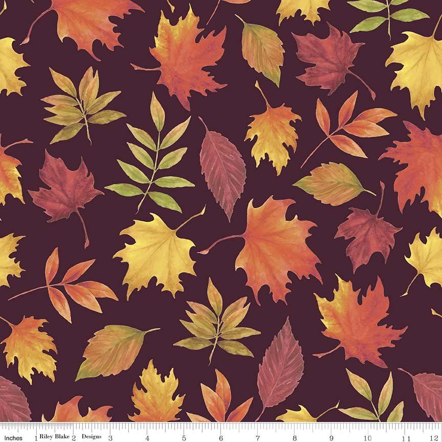 Autumn Hues - Maroon Leaves (#7083)