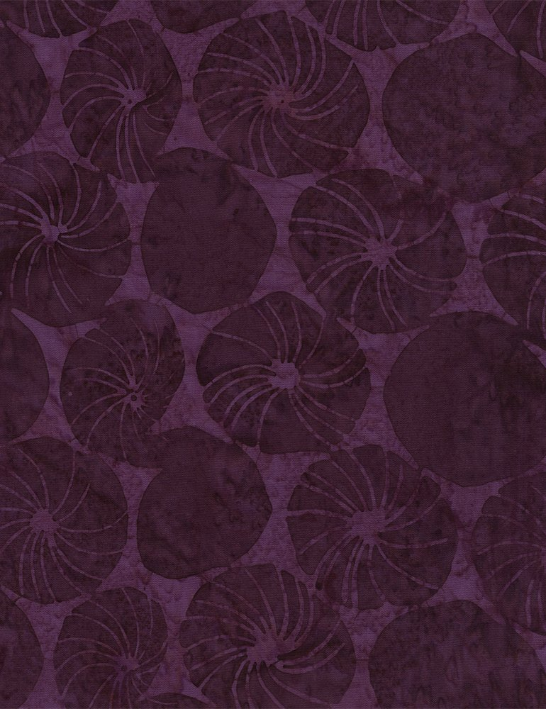 Tonga Riviera Batik - Morning Glory - Eggplant (#7123)