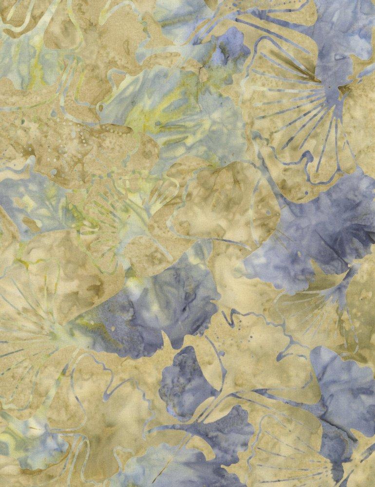 Tonga Surf Batik - Ginko Leaf - Sand (#7176)