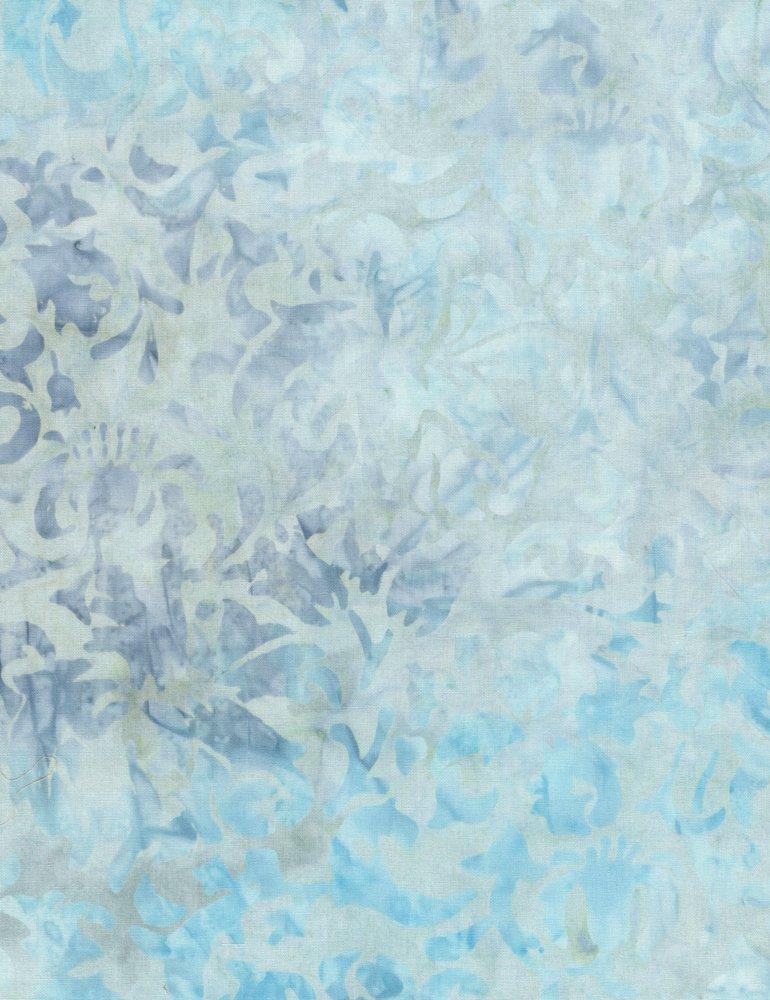 Tonga Surf Batik - Abstract Scroll - Sky (#7177)
