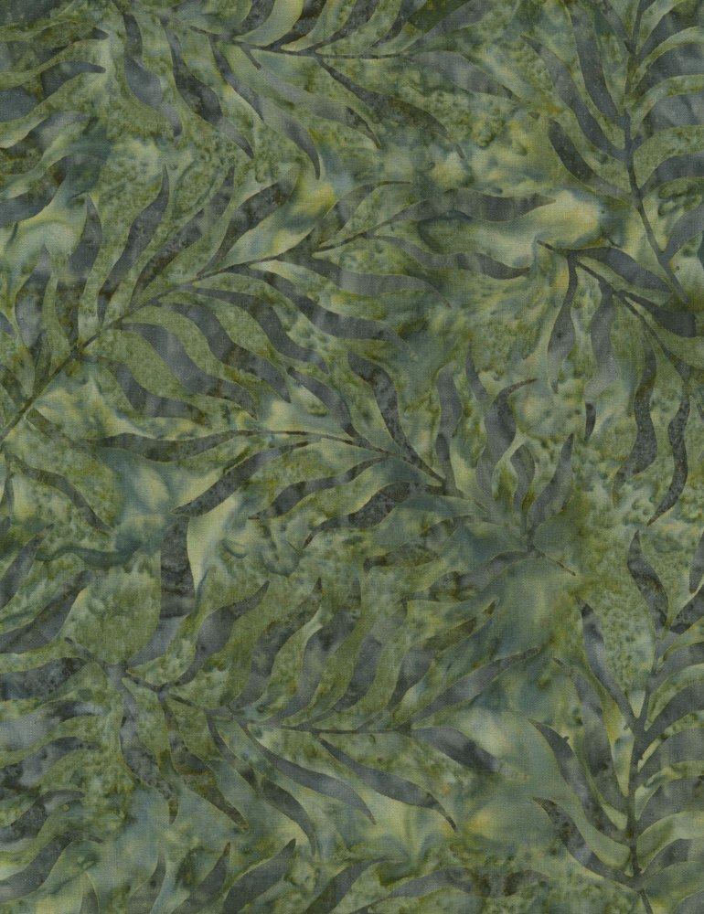 Tonga Surf Batik - Sea Fern - Kelp (#7182)