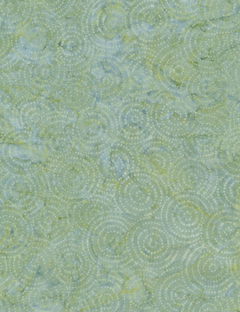 Tonga Surf Batik - Dotted Circles - Spa (#7183)
