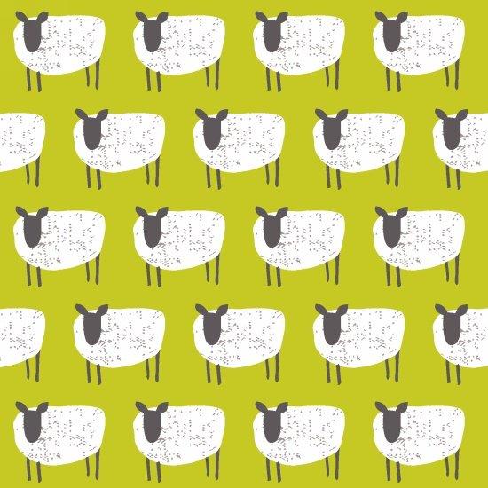 Wildflower Farm-Green with Sheep