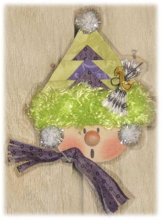 Peppermint Cheese Cake Ornament Kit- Girl Caroler