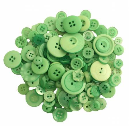 Buttons Galore 200 count Greenery