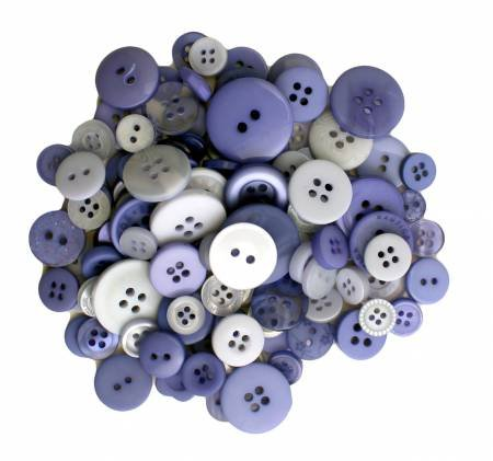 Buttons Galore 200 count Periwinkle Garden