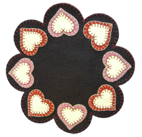 Heart Candle Mat Kit