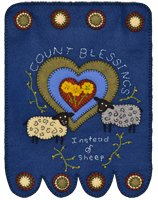 Count Blessings Hanging Wool Kit