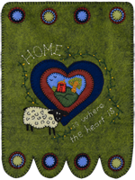 Home Is Where The Heart Is Hanging Wool Kit