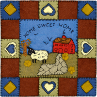 Home Sweet Home: New England Pin Collectors Block Wool Kit