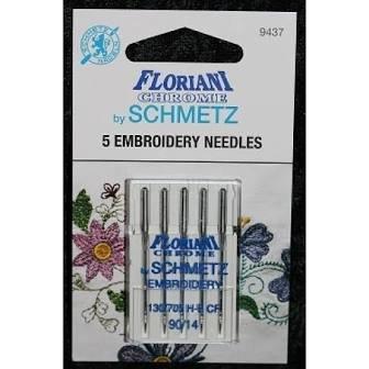 Floriani Chrome Embroidery Needles 90/14