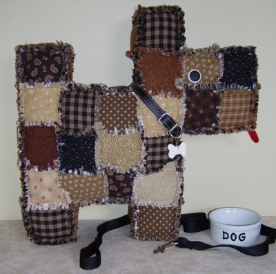 Patchwork Puppy Pillow