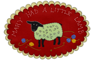 Mary Had a Little Lamb Oval Mat Wool Kit