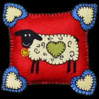 Sheep Pincushion Wool Kit
