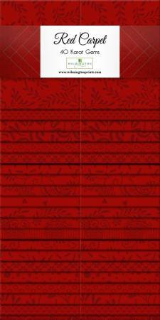 Red Carpet 40-2 1/2 x44 Strips Karat Gems