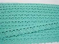 1/2 Aqua Cotton Lace Trim