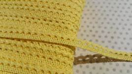 7/16 Cotton Lace Trim- Creamy Yellow