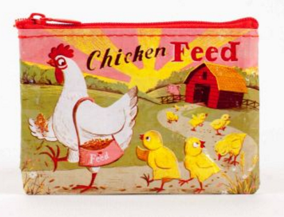 Bag: Chicken Feed Zip Coin Purse