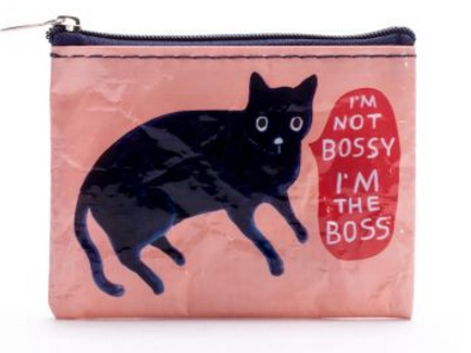 Bag: I'm Not Bossy Zip Coin Purse