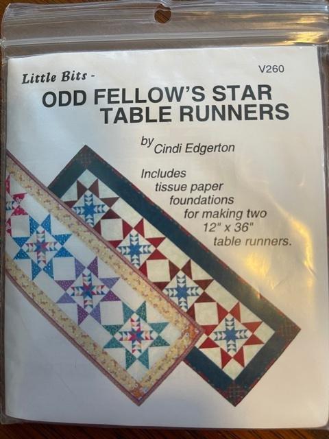 Little Bits Odd Fellow's Star Table Runners