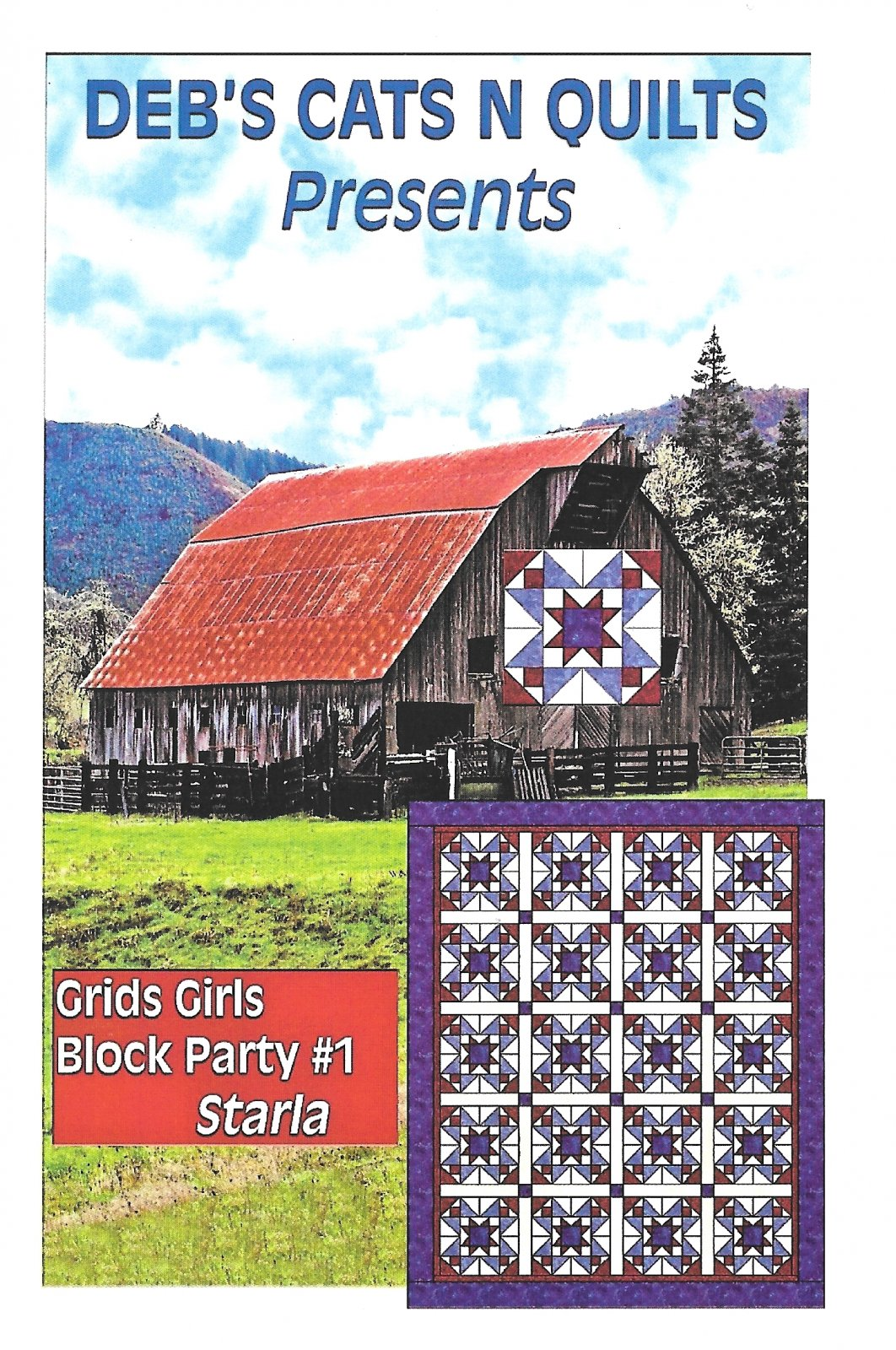 Grids Girls Block Party Patterns # 1 Starla