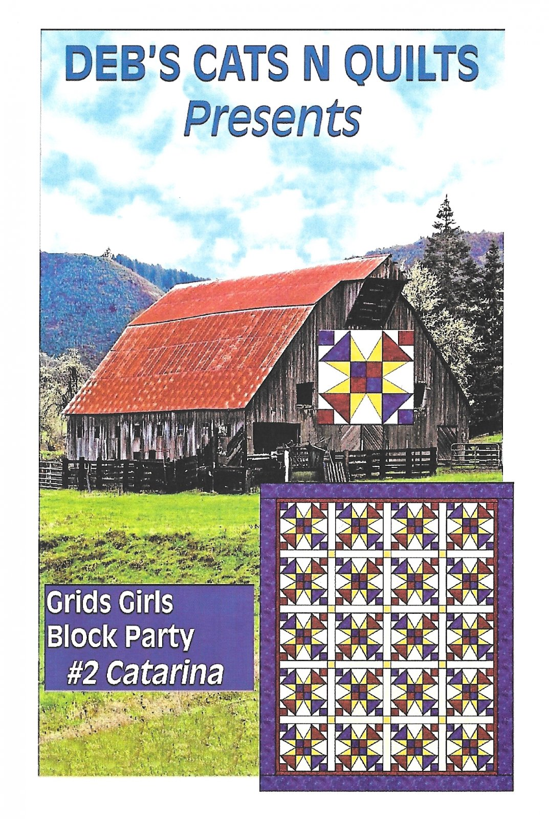 Grids Girls block Party Patterns # 2 Catarina