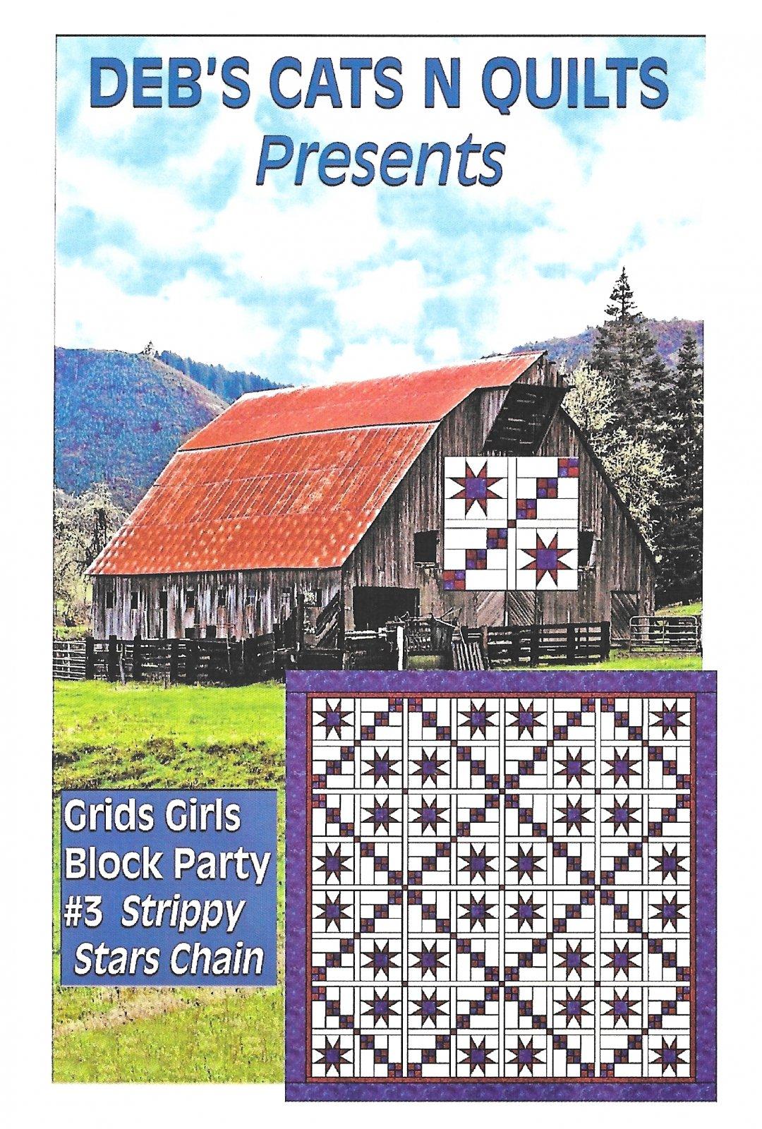 Grids Girls Block Party Patterns # 3 Strippy stars Chain