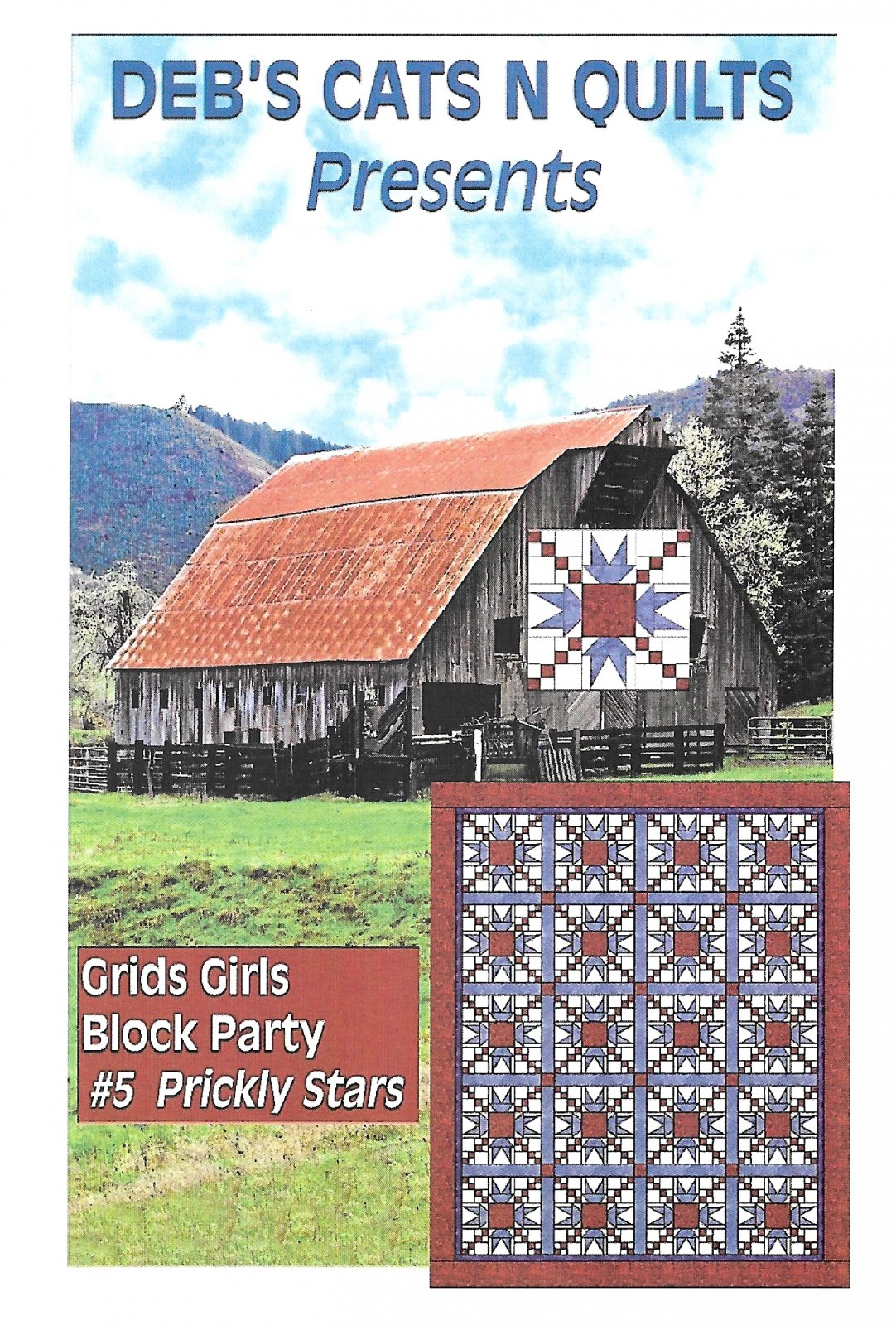 Grids girls Block Party Patterns # 5 Prickly Stars