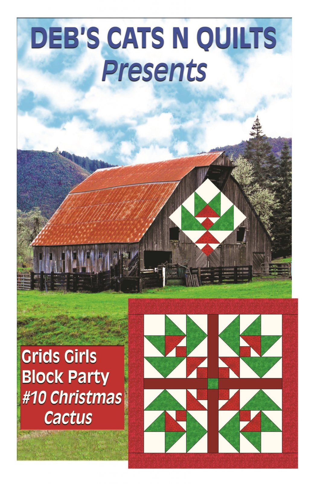Christmas Cactus- Grids Girls Block Party # 10