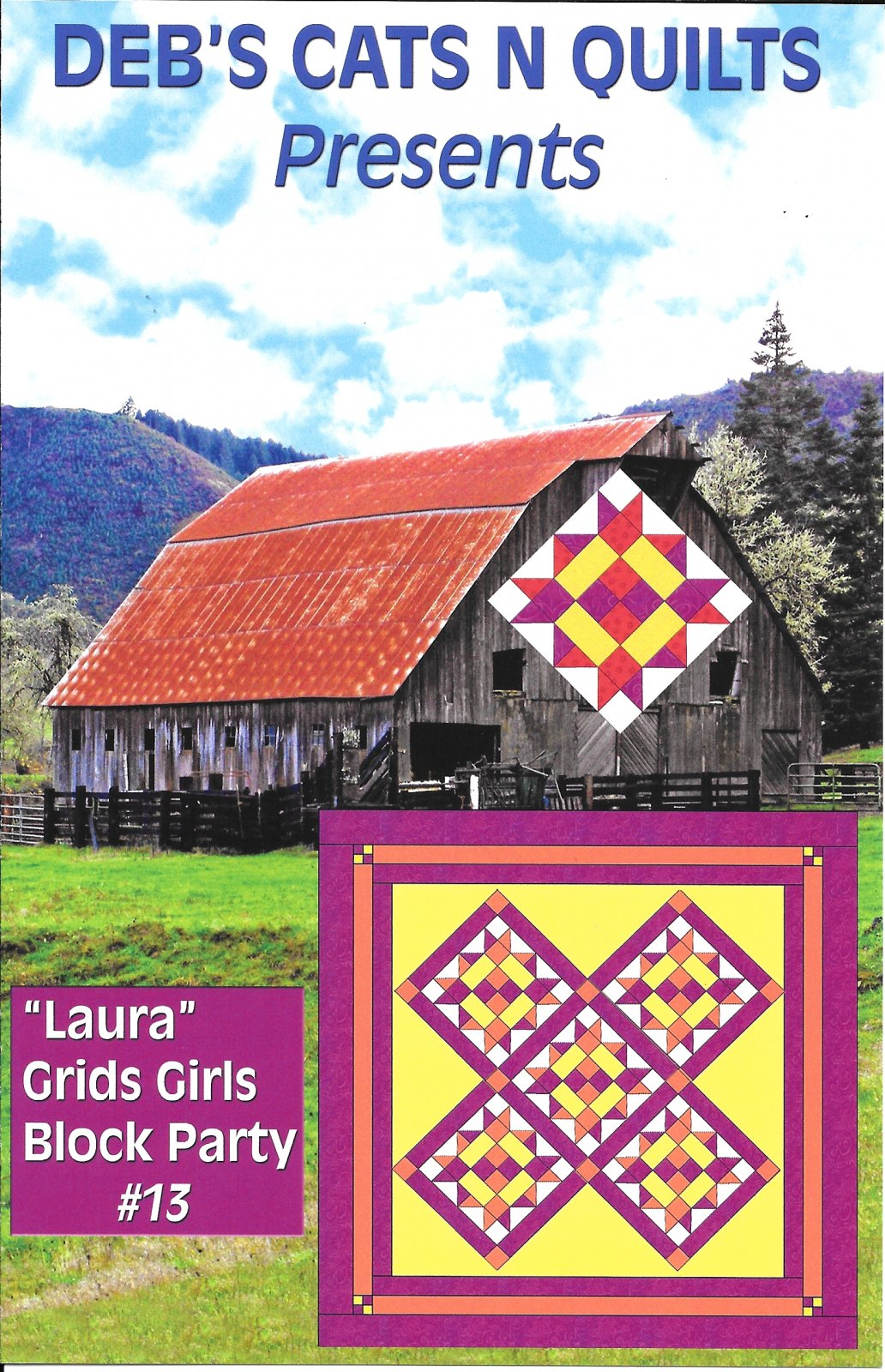 Grids Girls Block Party Pattern # 13 Laura