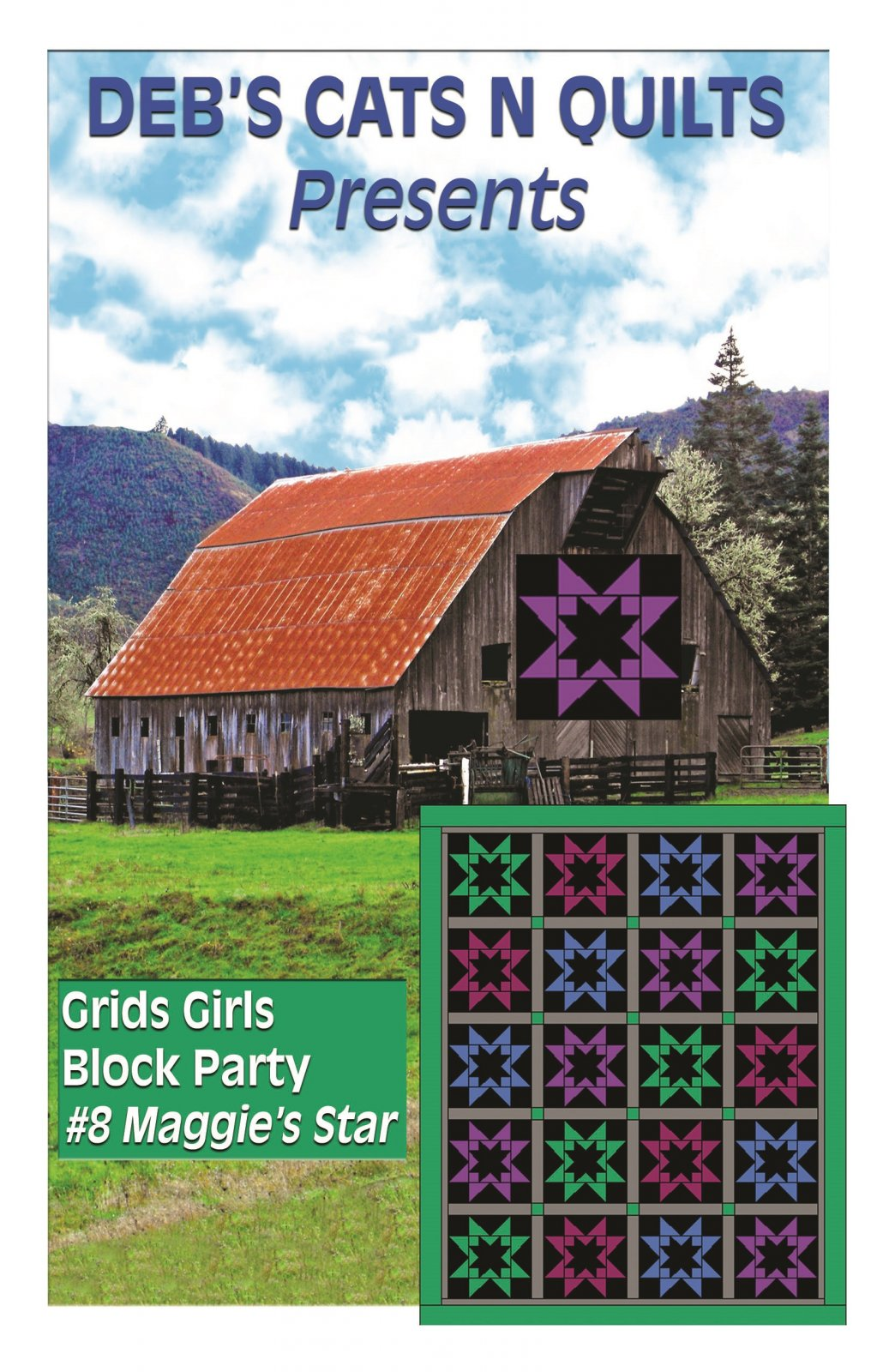 Maggie's Star- Grids Girls Block Party # 8
